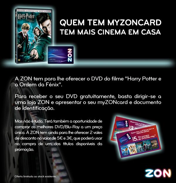 ZON oferece DVD do Harry Potter